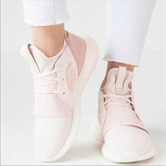 Women's Adidas Tubular Defiant Halo Pink